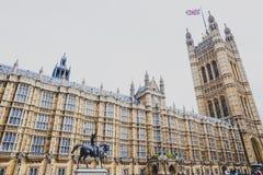 Detalle del palacio del edificio de Westminster en centavo de la ciudad de Londres Fotos de archivo libres de regalías