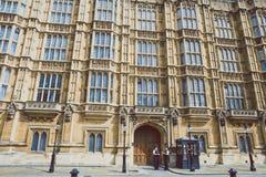 Detalle del palacio del edificio de Westminster en centavo de la ciudad de Londres Imagen de archivo