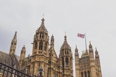 Detalle del palacio del edificio de Westminster en centavo de la ciudad de Londres Fotos de archivo