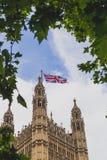Detalle del palacio del edificio de Westminster en centavo de la ciudad de Londres Fotografía de archivo