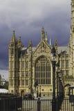 Detalle del palacio del edificio de Westminster en centavo de la ciudad de Londres Imagenes de archivo