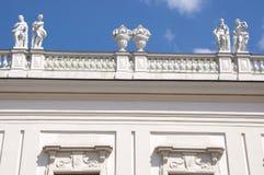 Detalle del palacio superior del belvedere en Viena fotos de archivo libres de regalías