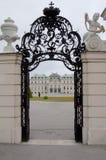 Detalle del palacio superior del belvedere en Viena Foto de archivo