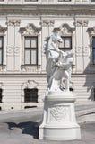 Detalle del palacio superior del belvedere en Viena Imágenes de archivo libres de regalías