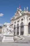 Detalle del palacio superior del belvedere en Viena foto de archivo libre de regalías