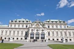 Detalle del palacio superior del belvedere en Viena fotografía de archivo