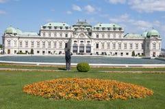 Detalle del palacio superior del belvedere en Viena imagen de archivo