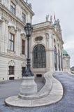 Detalle del palacio superior del belvedere en Viena imagen de archivo libre de regalías