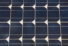 Detalle del panel solar Imagenes de archivo
