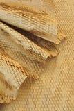 Detalle del papel de empaquetado reciclado Foto de archivo