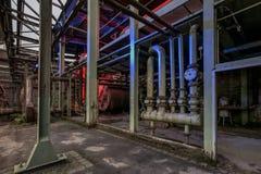 Detalle del parque público industrial en el alemán Imagen de archivo libre de regalías