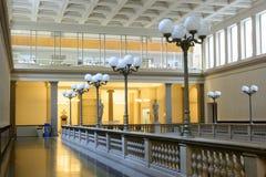 Detalle del pasillo principal de la universidad de Zurich, ETH Fotos de archivo libres de regalías