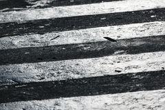 Detalle del paso de peatones, calle Foto de archivo libre de regalías