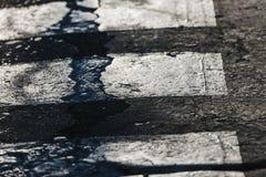 Detalle del paso de peatones, calle Fotos de archivo libres de regalías