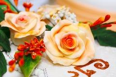 Detalle del pastel de bodas Fotografía de archivo