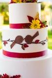 Detalle del pastel de bodas Imagen de archivo