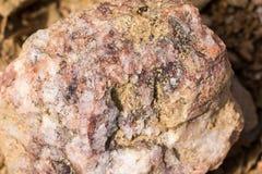 Detalle del pedazo de roca de mármol Imagen de archivo