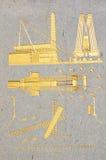 Detalle del pedestal del obelisco de Luxor Fotos de archivo