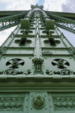 Detalle del pilar del puente de la libertad de Budapest Fotografía de archivo libre de regalías