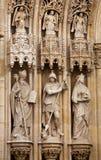 Detalle del portal de la catedral de Zagreb fotos de archivo libres de regalías
