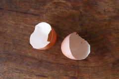 Detalle del primer de la cáscara de huevo Fotos de archivo libres de regalías