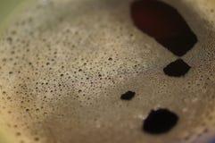 Detalle del primer de la espuma del café Fotografía de archivo