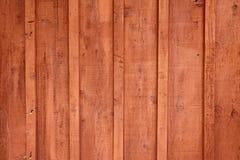 Detalle del primer del final exterior que echa a un lado del cedro rojo Foto de archivo libre de regalías
