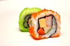 Detalle del primer del sushi del nigiri Foto de archivo libre de regalías