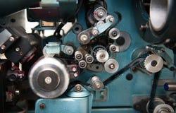 detalle del proyector del cine de la película de 35 milímetros Foto de archivo