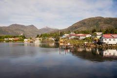 Detalle del pueblo de Puerto Eden en el sur de Chile imagen de archivo