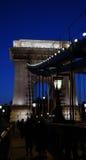 Detalle del puente de cadena Fotografía de archivo libre de regalías