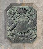 Detalle del puente de cadena de Szechenyi imagenes de archivo