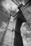 Detalle del puente de New York City Brooklyn Fotografía de archivo