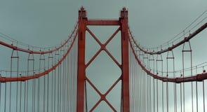 Detalle del puente del 25 de abril, Lisboa, Portugal Fotos de archivo libres de regalías