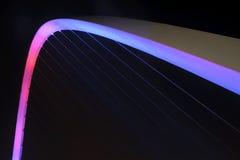 Detalle del puente del milenio Foto de archivo libre de regalías