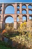Detalle del puente más grande Goltzschtalbrucke del ladrillo del mundo cerca de la ciudad de Plauen Fotos de archivo