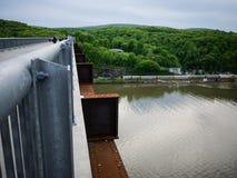 Detalle del puente sobre el Hudson Imagenes de archivo