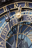 Detalle del reloj astronómico, Praga imagenes de archivo