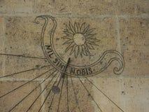 Detalle del reloj solar Imágenes de archivo libres de regalías