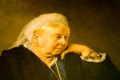 Detalle del retrato de la reina Victoria como más vieja mujer fotos de archivo