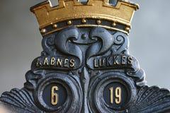 Detalle del rosenborg del castillo Imagen de archivo libre de regalías