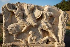 Detalle del sarcófago, Ephesus, Turquía Imagen de archivo libre de regalías
