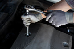 Detalle del servicio del coche Fotografía de archivo libre de regalías
