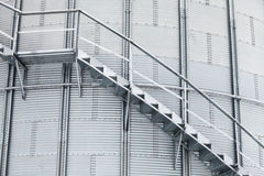 Detalle del silo de grano del almacenamiento Imágenes de archivo libres de regalías