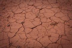 Textura desecada del suelo Fotos de archivo libres de regalías