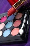 Detalle del surtido de makeups Imagen de archivo