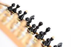Detalle del tablero de ajedrez Imagenes de archivo