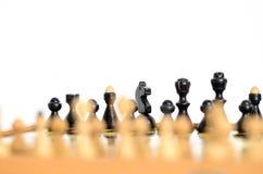 Detalle del tablero de ajedrez Imágenes de archivo libres de regalías