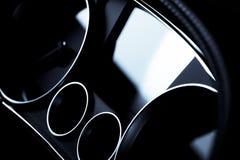 Detalle del tablero de instrumentos del coche Imagen de archivo libre de regalías