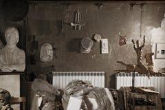 Detalle del taller del escultor Foto de archivo libre de regalías
